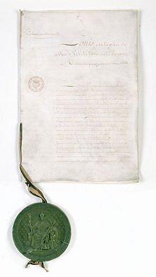 Charte constitutionnelle du 4 juin 1814 dans Charte constitutionnelle du 4 juin 1814 charte_constitutionnelle_du_4_juin_1814._page_1_-_archives_nationales_-_ae-i-291